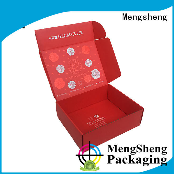 Mengsheng printing design paper gift boxes with lids corrugated cardboard ectronics packing