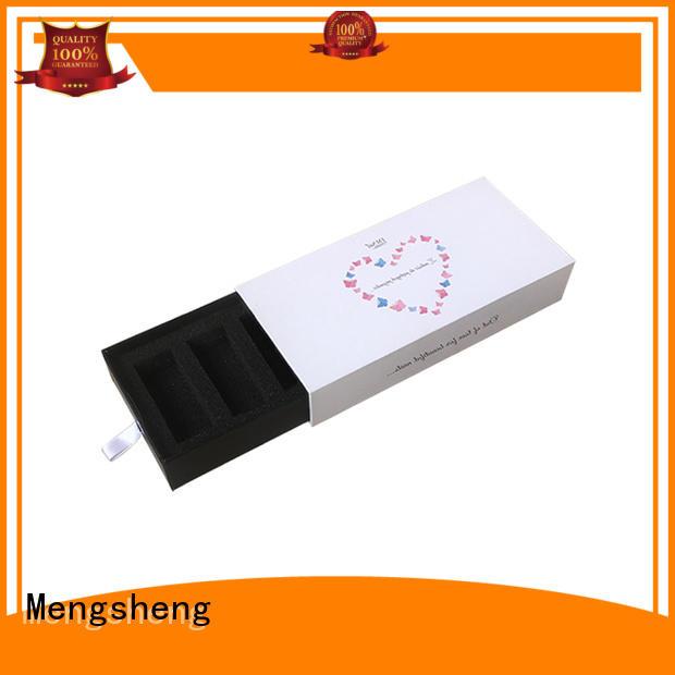 Mengsheng foam packaging kraft slider box with ribbon at discount