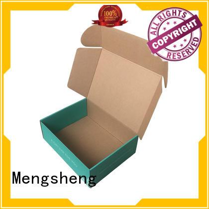 Mengsheng natural kraft paper plain corrugated box shoes packing convenient