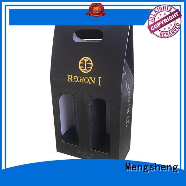 Mengsheng natural kraft paper mailing box printed cardboard eco friendly