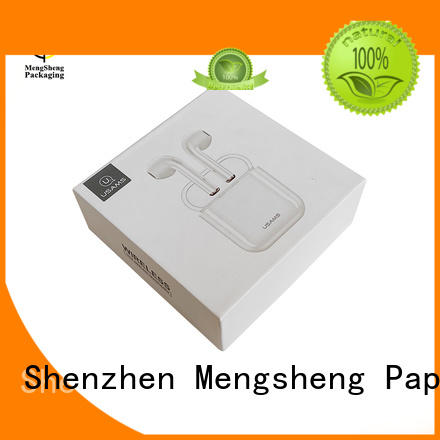 Mengsheng headphones packaging 2 piece gift boxes rectangular jewelry packing