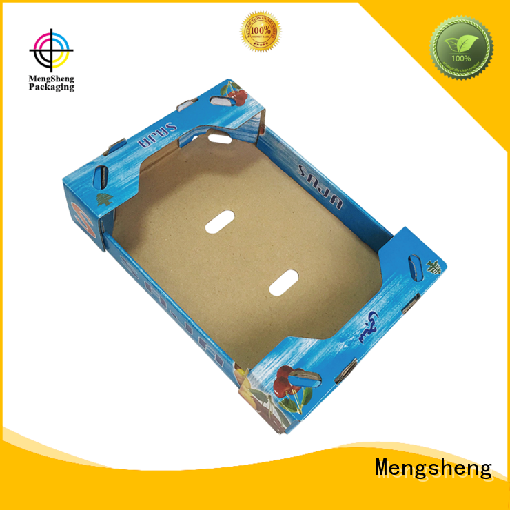 Mengsheng customized wrap box corrugated for fruit packaging