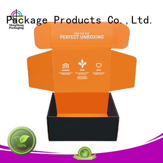 strong corrugated board clothing packing eco friendly Mengsheng