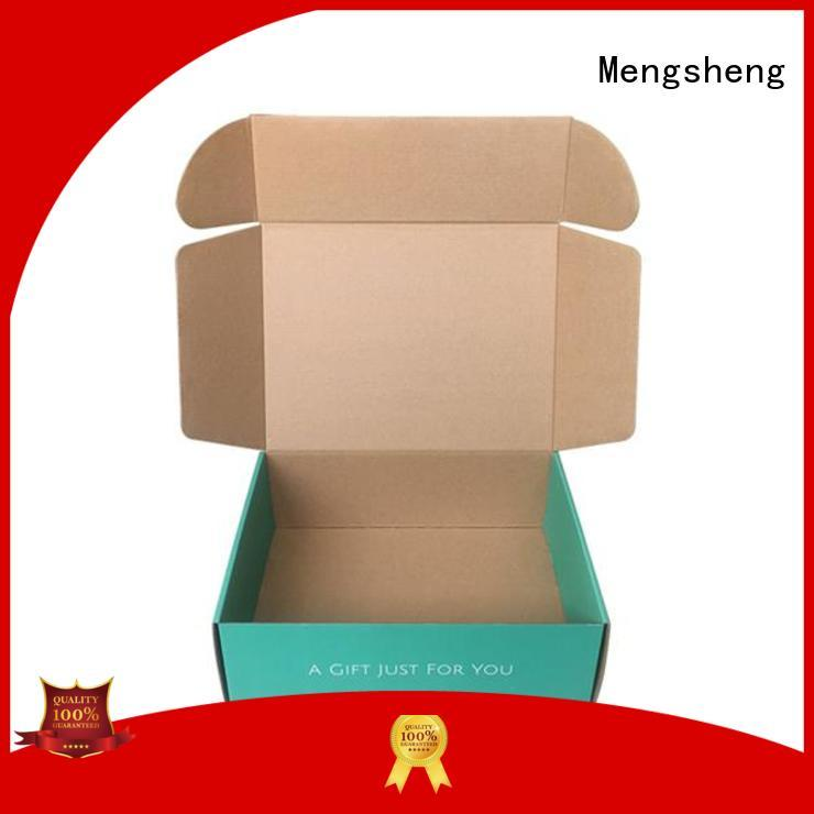 shipping corrugated boxes wholesale printed cardboard convenient Mengsheng