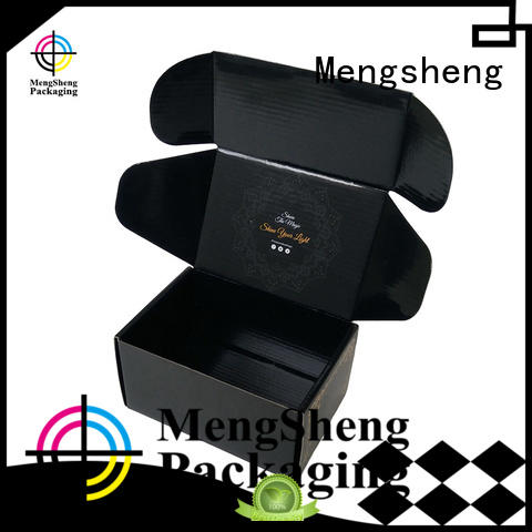 Mengsheng strong mailer box clothing packing custom design