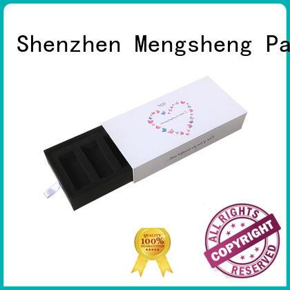 Mengsheng foam packaging kraft drawer box brown kraft paper free sample