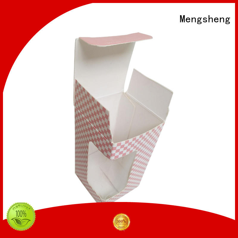 Mengsheng pvc window large flat gift box oliver oil displaying with handle
