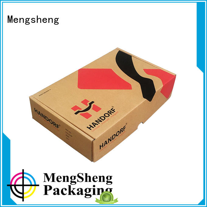 Mengsheng shipping corrugated supplies shoes packing custom design