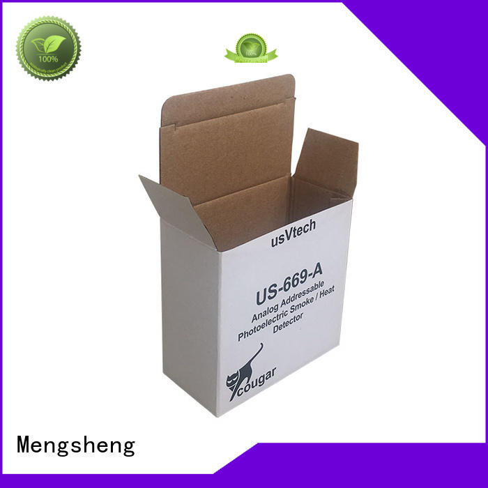 cardboard box pink colour ectronics packing Mengsheng