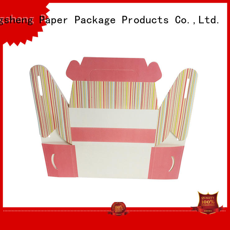full color cheap cake boxes white customized