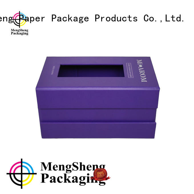 Mengsheng clear window flip top box with magnetic closure hot-sale for toy storage