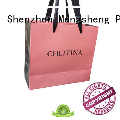 Mengsheng customized bulk paper bags hot-sale with handles