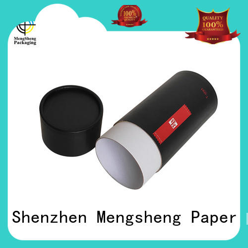 Mengsheng magnetic closure xmas boxes round tube top brand