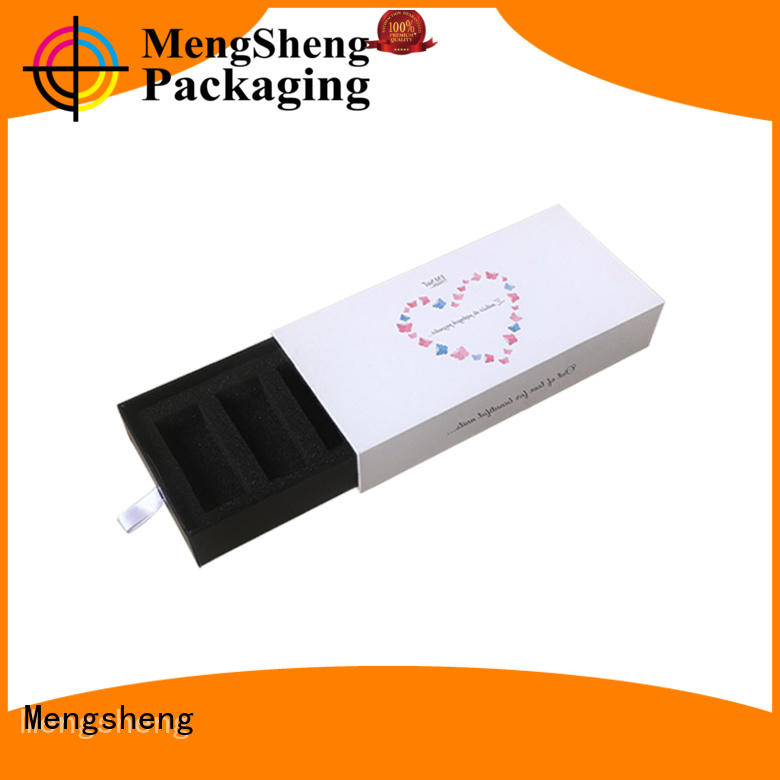 Mengsheng custom color sliding box packaging small base free sample
