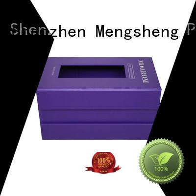 Mengsheng hot-sale magnetic lid gift box pvc inserted clothing shipping