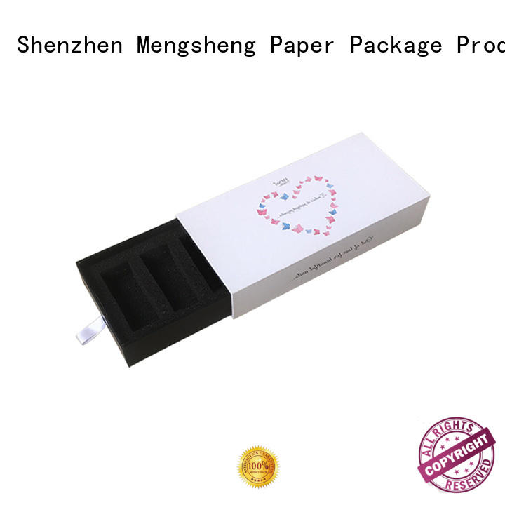 Mengsheng factory price kraft drawer box small base at discount