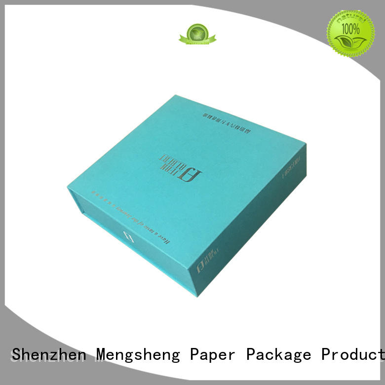 pvc window packing boxes at discount with handle Mengsheng