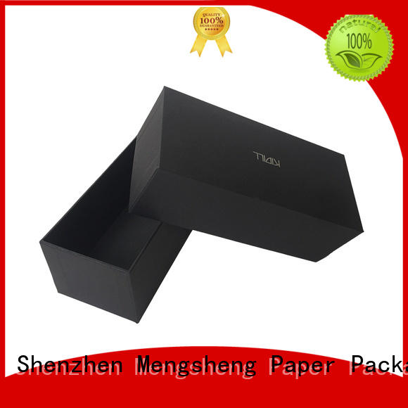 Mengsheng shopping large black cardboard box company with handle