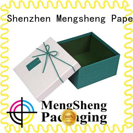 Mengsheng electronics packaging 2 piece box rectangular chocolate packing