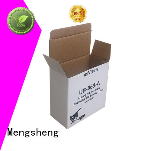 Mengsheng foldable cardboard mailbox shipping clothing for florist