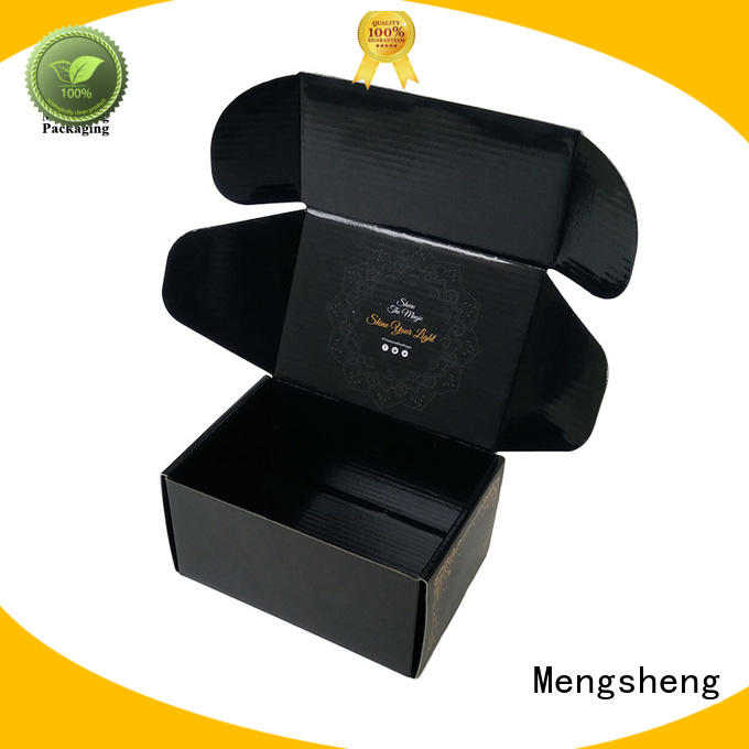 Mengsheng high quality white shipping boxes clothing packing custom design