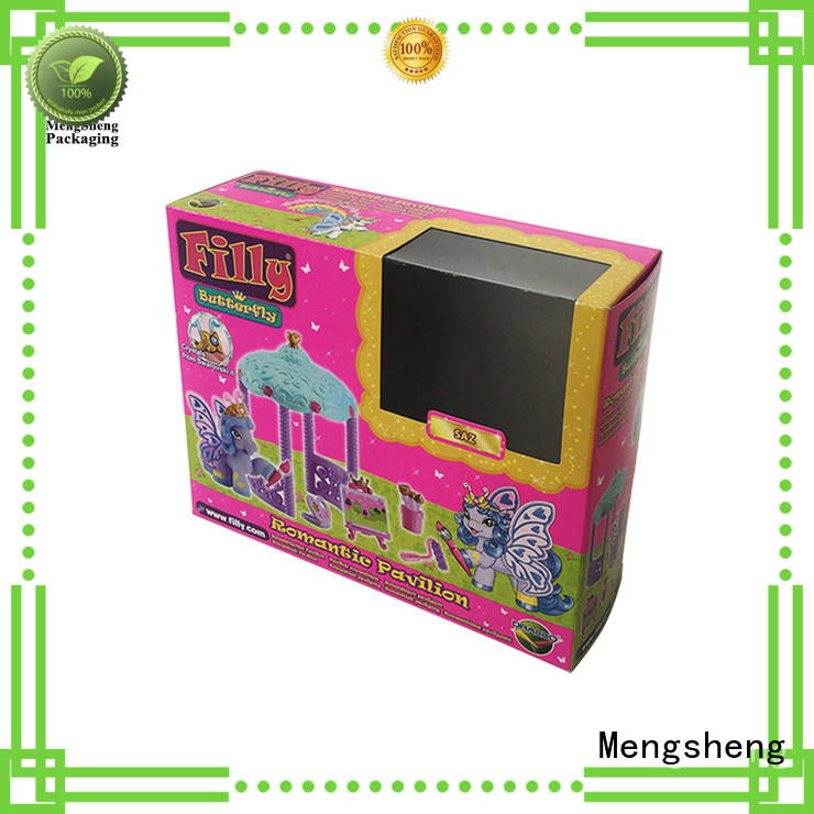 Mengsheng eco-friendly cheap gift boxes pvc inserted for toy storage