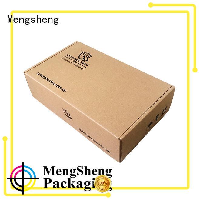 Mengsheng underwear box corrugated cardboard with ribbon