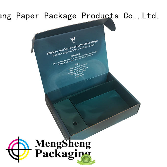 Mengsheng printing design gift box presents Supply with handle