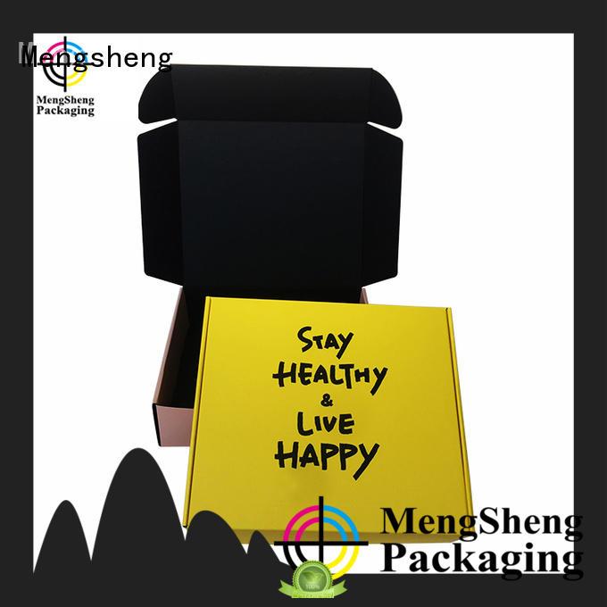shopping cardboard box corrugated cardboard with ribbon Mengsheng