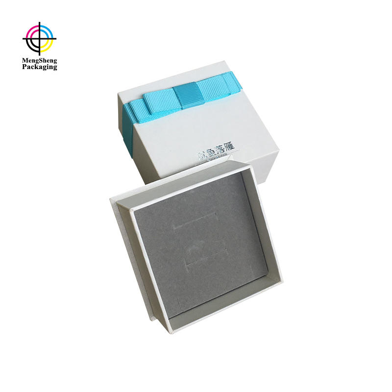 Mengsheng sturdy 2 piece gift boxes rectangular jewelry packing-2