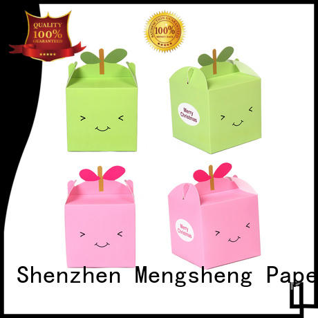 Mengsheng clear window empty gift boxes corrugated for fruit packaging