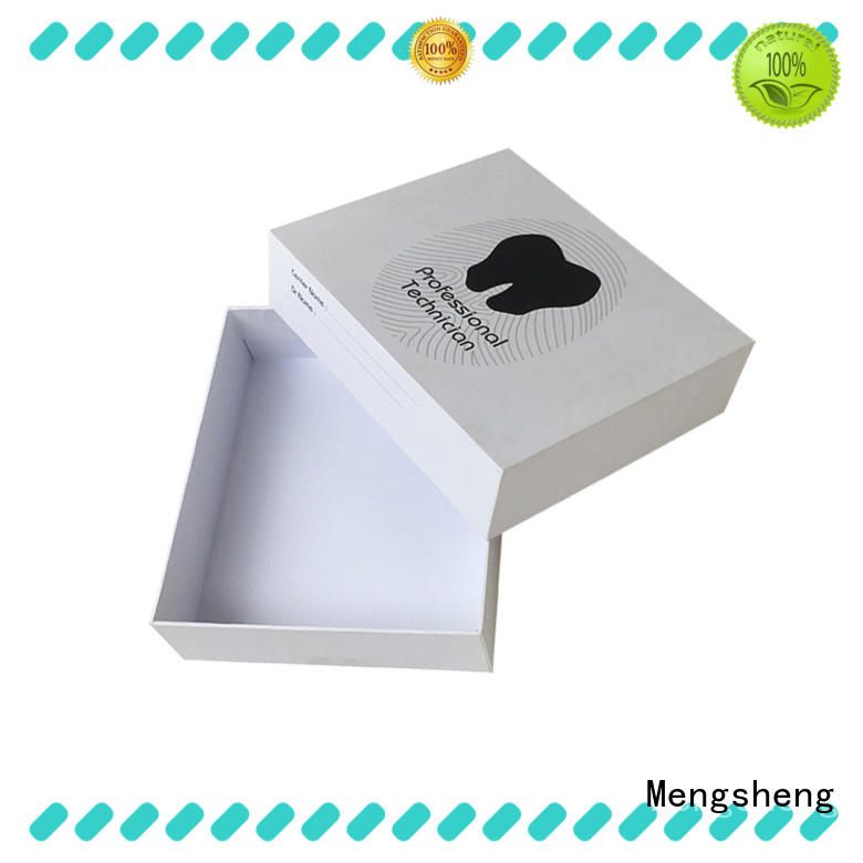 electronics packaging white cardboard boxes with lids ribbon design jewelry packing Mengsheng