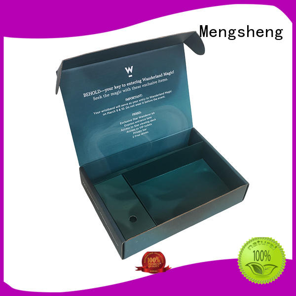 Mengsheng color phone case box logo printed garment packing