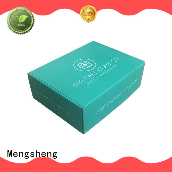 Mengsheng wine bottles black shipping boxes double sides eco friendly