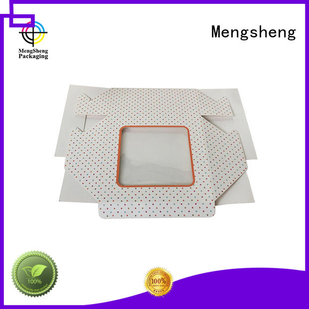 Mengsheng white cheap cake boxes rectangular at discount