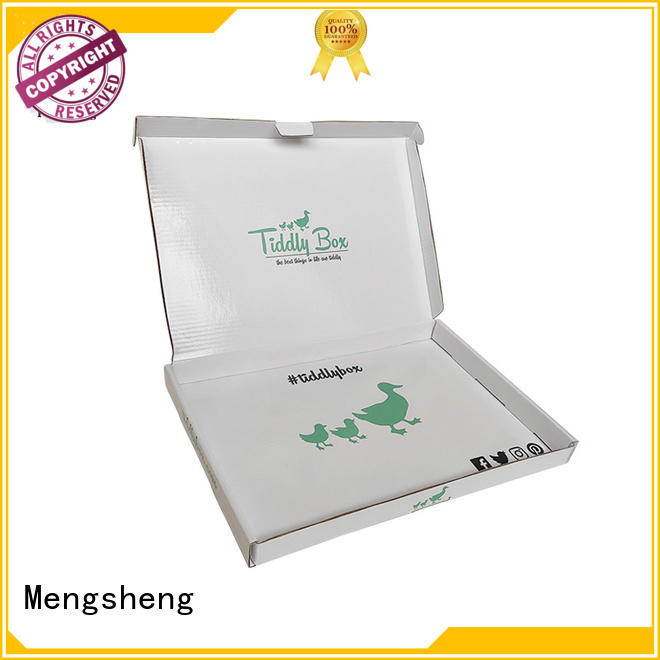 apparel shipping garment boxes corrugated paper Mengsheng