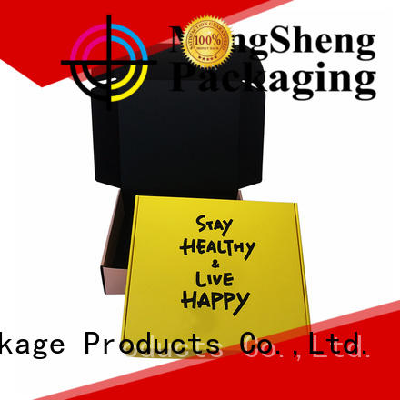 Mengsheng Best small black gift box corrugated cardboard with ribbon