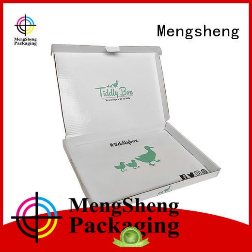 Mengsheng cosmetic packaging underwear box free sample ectronics packing