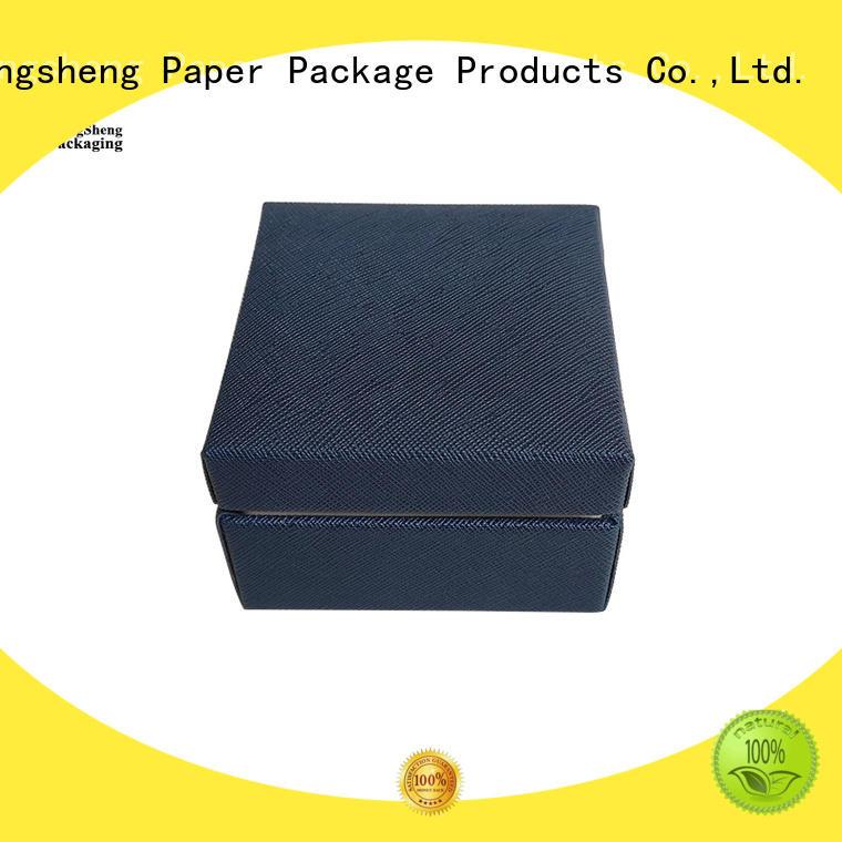 high quality jewelry display box black clothing packing custom design