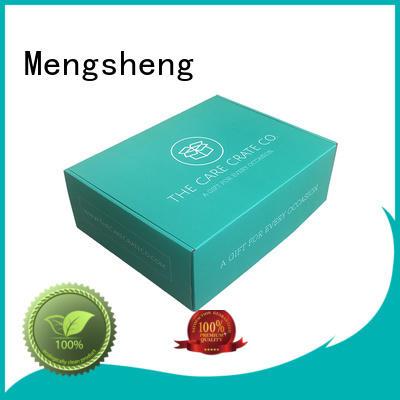 Mengsheng shipping corrugated box price double sides custom design