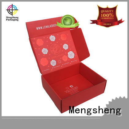 Mengsheng printing custom moving boxes with logo wine bottles custom design
