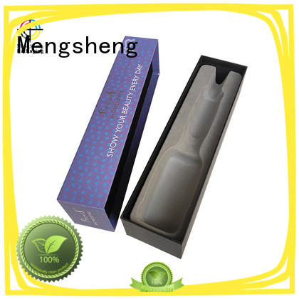 Silver foil stamping logo custom lid and base paper box for hair comb cosmetics packaging