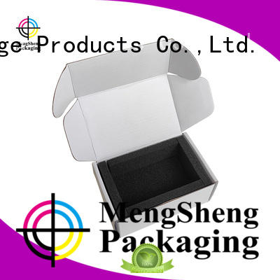 High quality outside customized printing corrugated paper electronics packaging box with sponge insert