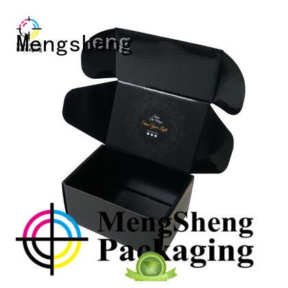 round tube corrugated box manufacturers double sides custom design Mengsheng