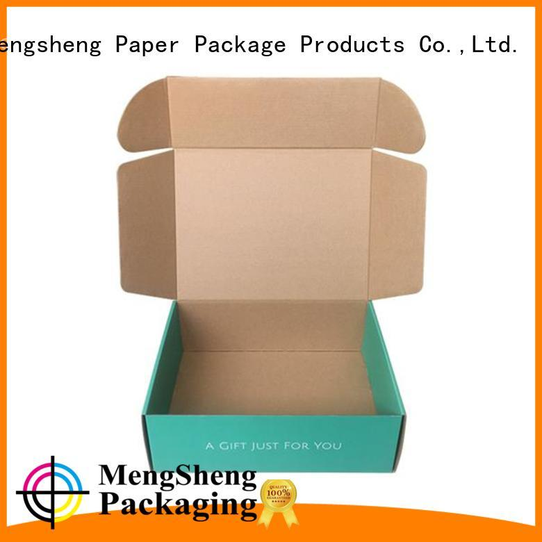 Mengsheng stamping colored corrugated boxes shoes packing convenient