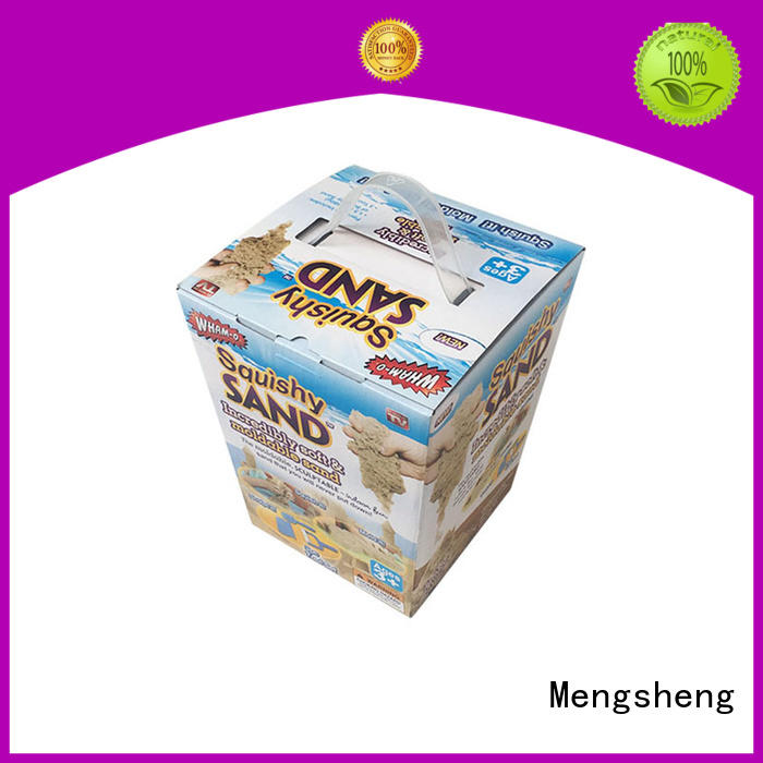 Mengsheng cheapest price kids toy box hot-sale with handles
