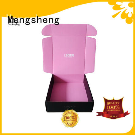 Mengsheng customized packing boxes pink colour