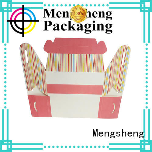 Mengsheng imprinted cake packaging box ecofriendly top brand