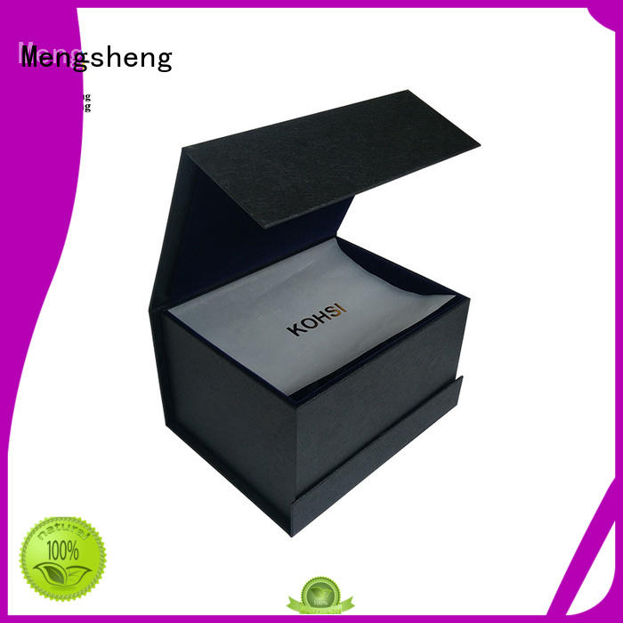 Mengsheng latest magnetic box corrugated with lid