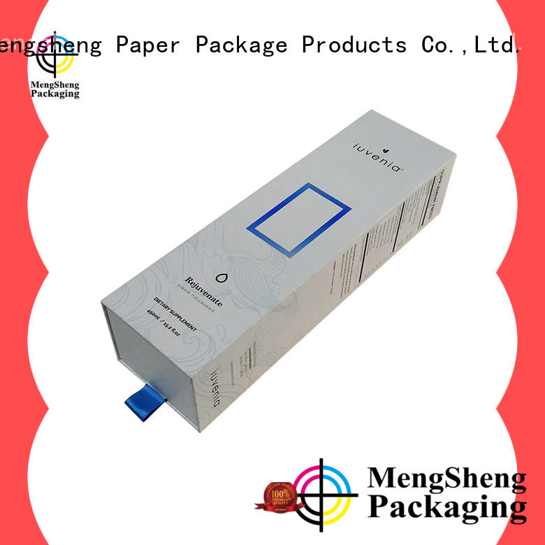 Mengsheng cosmetic packaging cardboard box shopping ectronics packing